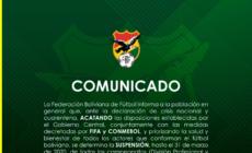 Federação Boliviana paralisa todas as competições nacionais até 31 de março