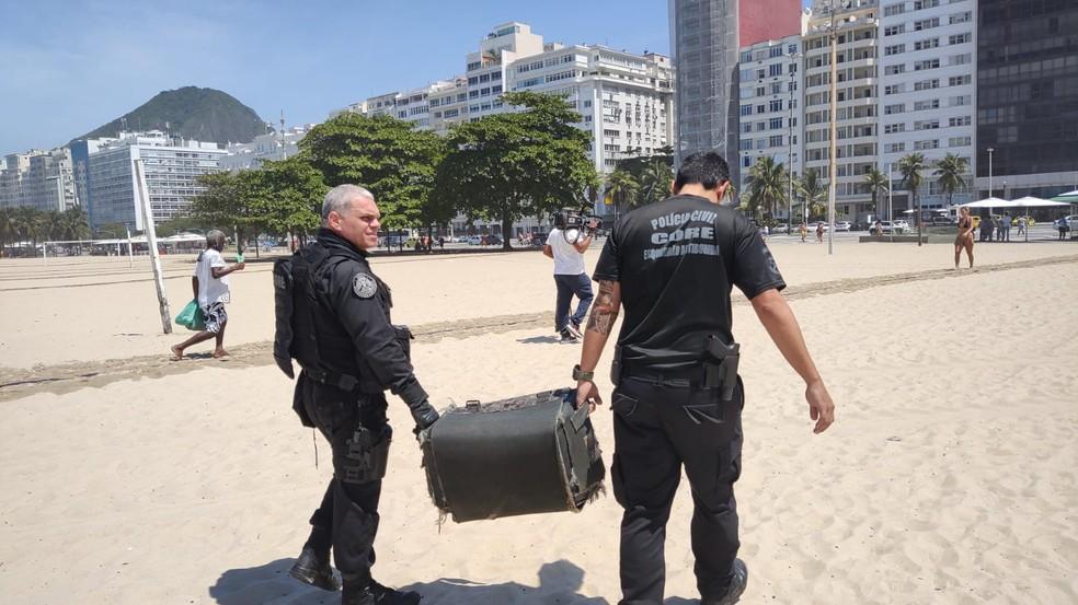 bomba encontrada areia de copacabana
