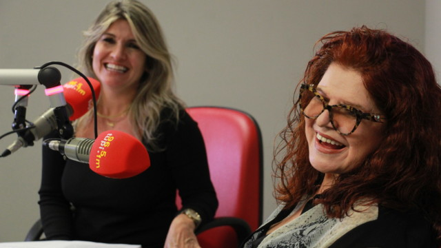 Ex-Frenética e atual astróloga do Show do Antonio Carlos, Leiloca, e a jornalista Márcia PInho