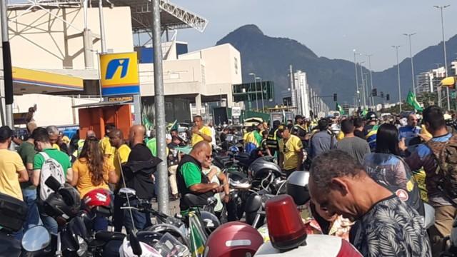 Motociata de Jair Bolsonaro, em Jacarepaguá, na Zona Oeste do Rio