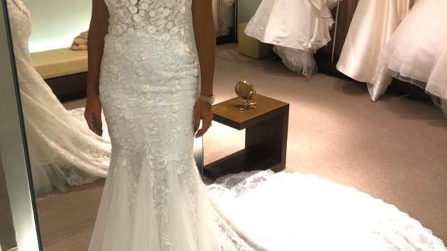 Prestes a se casas, Ana Paula Evangelista faz prova de vestidos (Divulgação)