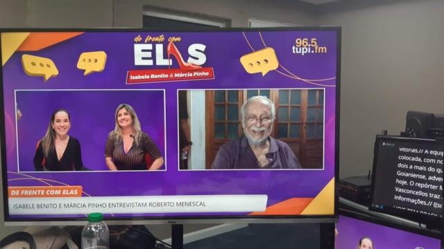 """""""De Frente Com Elas"""" recebe o cantor Roberto Menescal (Foto: Victor Yemba/ Divulgação: Super Rádio Tupi)"""