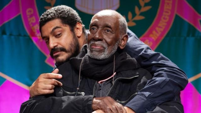 Nelson Sargento e o cantor Criolo
