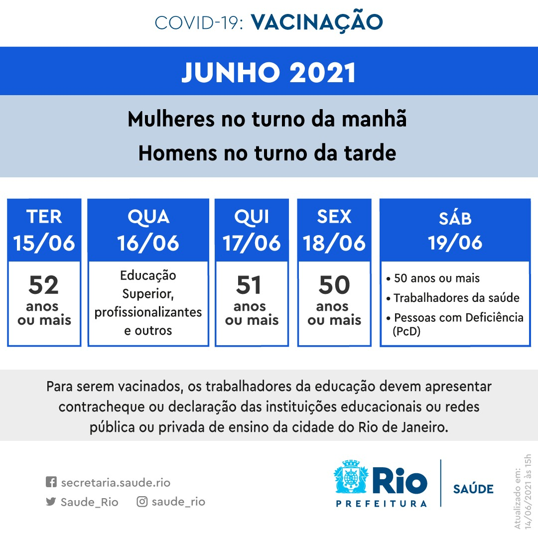 Prefeitura divulga novo calendário de vacinação (Divulgação: Secretaria Municipal de Saúde)
