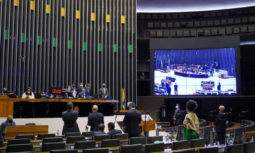 Plenário da Câmara dos deputados durante uma votação