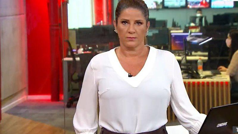 Christiane Pelajo nos estúdios da GloboNews