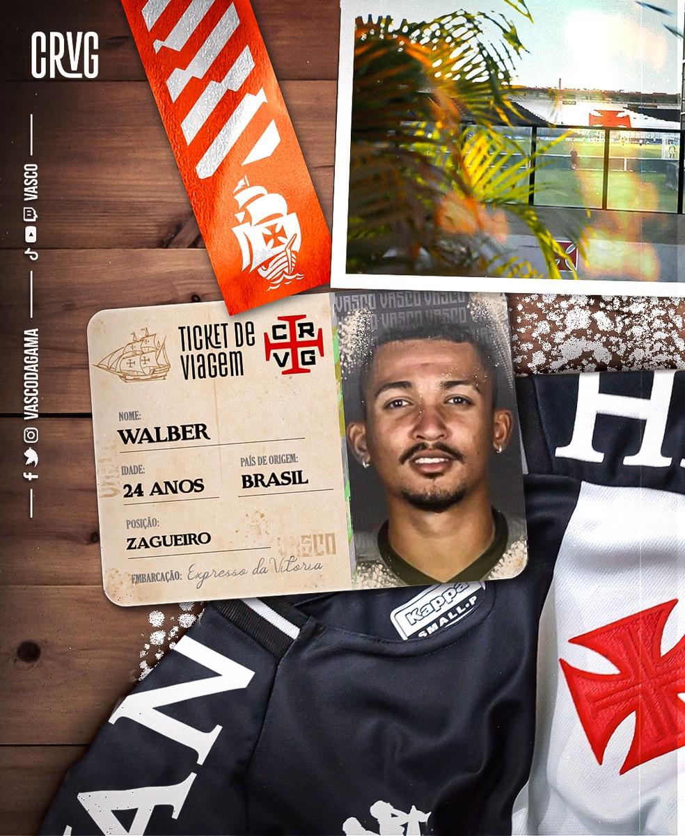 A pedido do técnico Lisca, Vasco anuncia a contratação por empréstimo do zagueiro Walber, que estava no Cuiabá