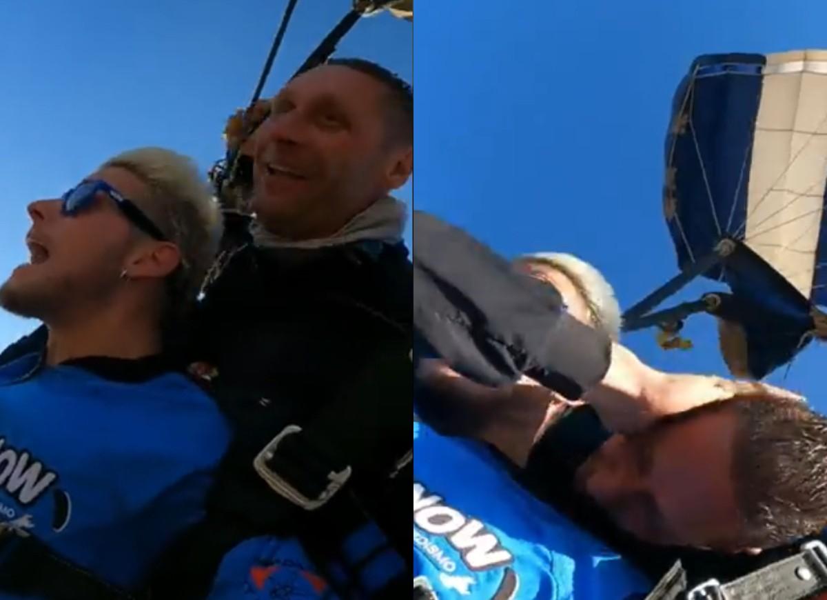 Ex-BBB é trolado durante salto de paraquedas