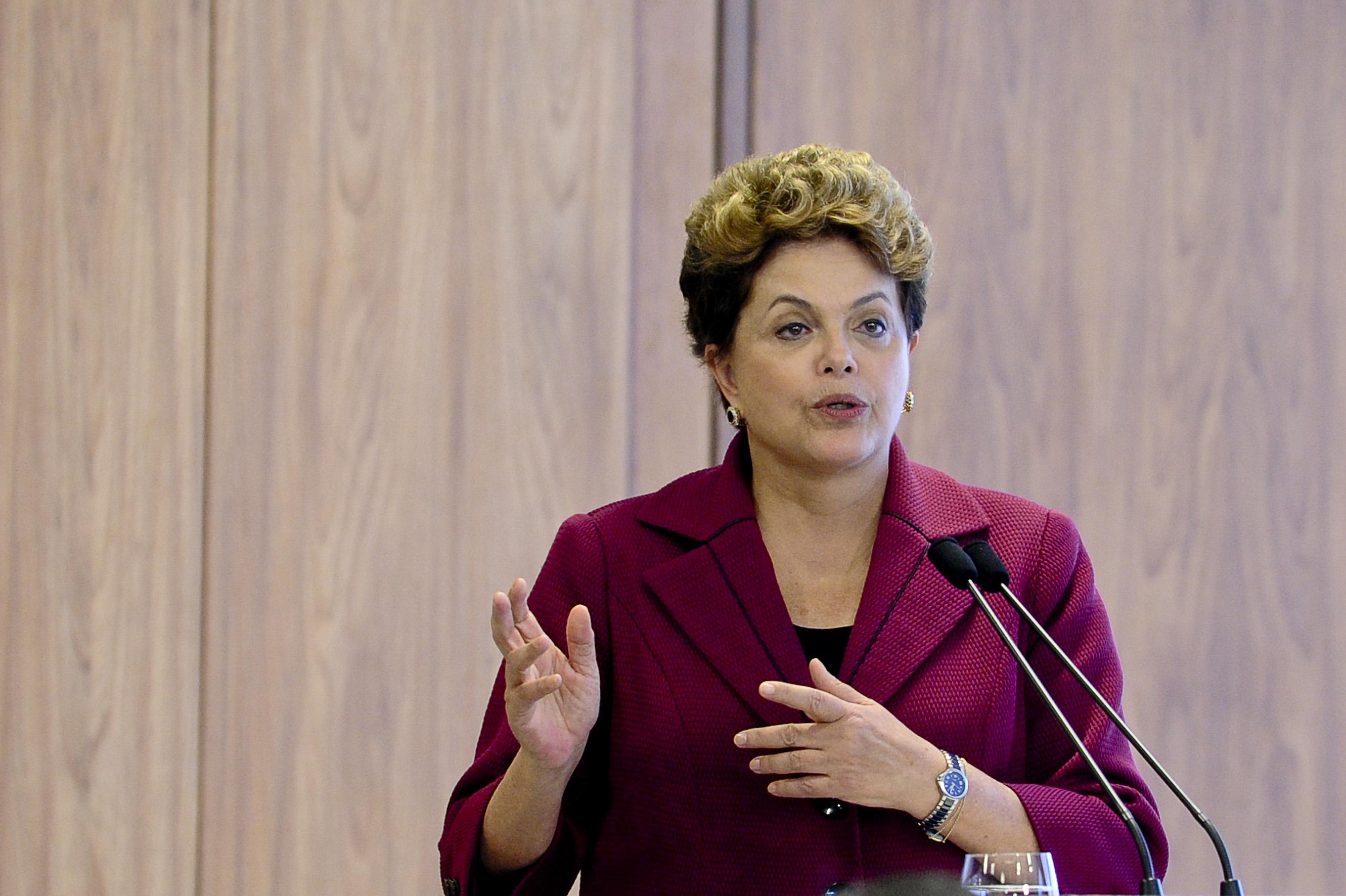 Dilma Rouseff discursando