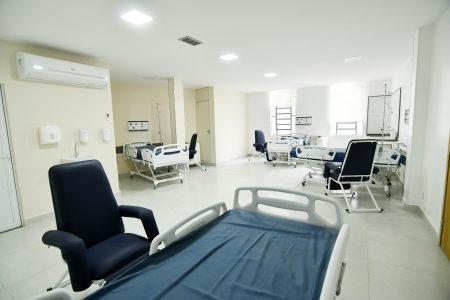 Interior do Hospital reformado pela Prefeitura de Nova Iguaçu
