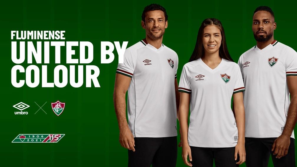Fluminense lança camisa branca nova com detalhes em verde, grená e cinza