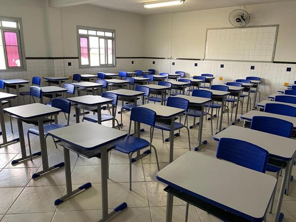 Imagem de uma sala de aula