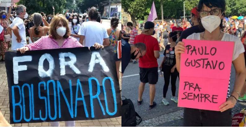 Famosos protesto bolsonaro