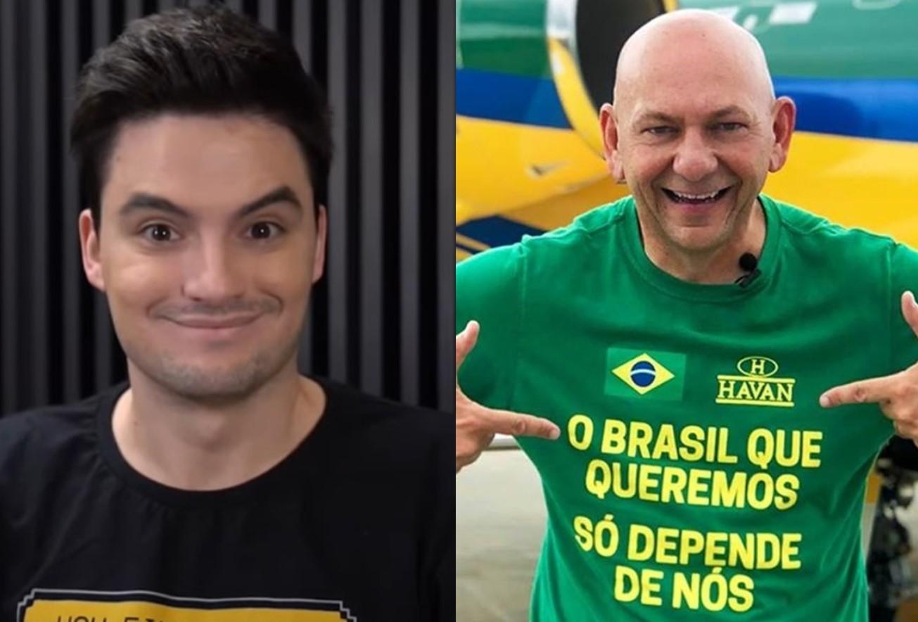 Felipe Neto e Luciano Hang