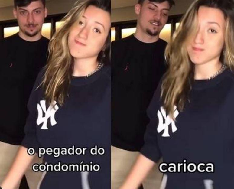 Renan Bolsonaro e Gabriela Nery