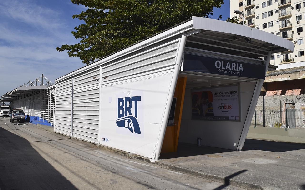 Imagem da estação de Olaria do BRT