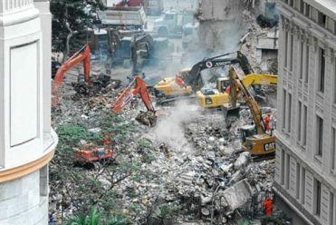 Imagem de um desabamento