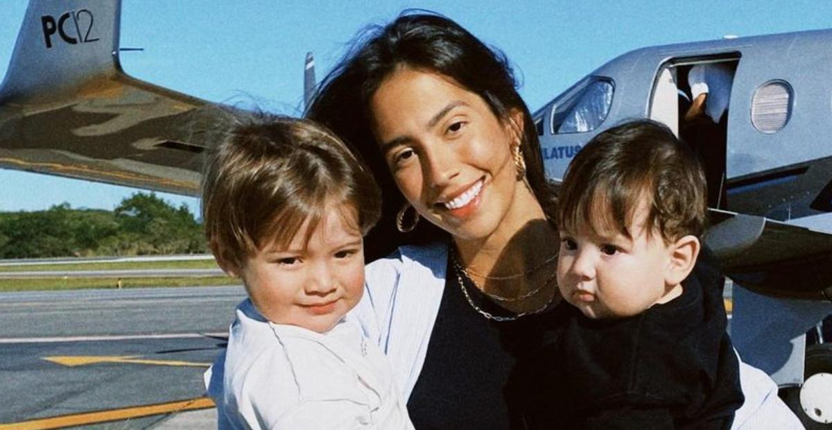 Gabi Brandt e filhos