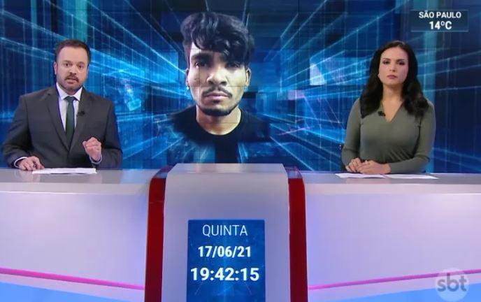 Apresentador do SBT faz confusão ao noticiar sobre o caso Lázaro (Reprodução: SBT Brasil)