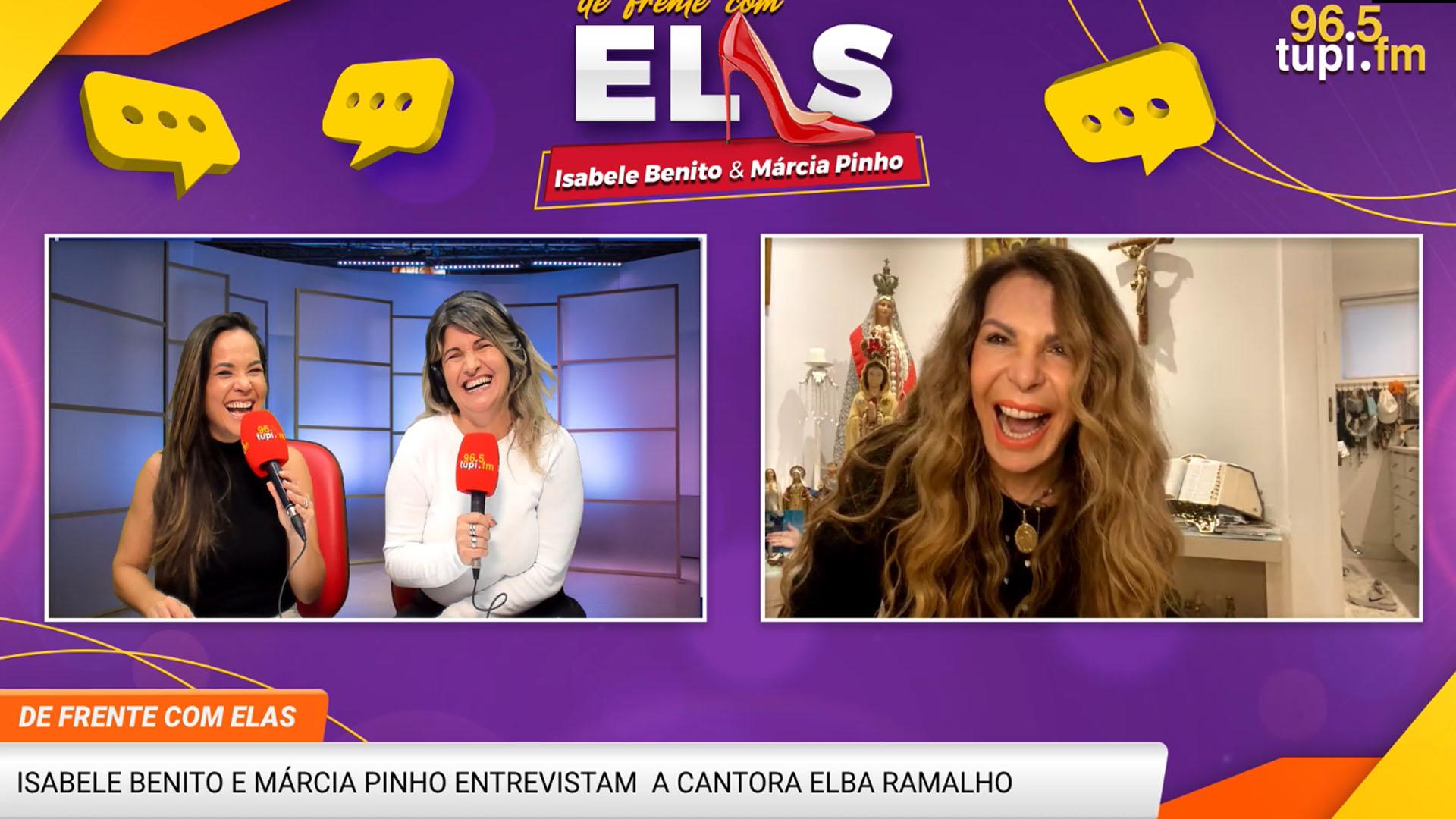 Chamada por vídeo com Isabele Benito, Márcia Pinho e Elba Ramalho