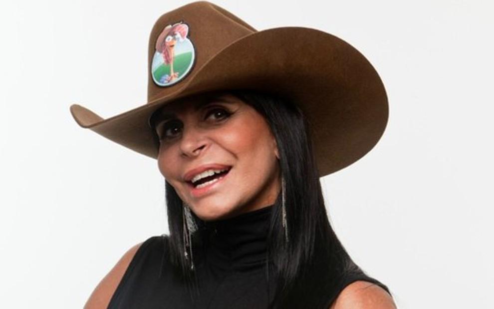 """Gretchen em """"A Fazenda"""", reality show da Record"""