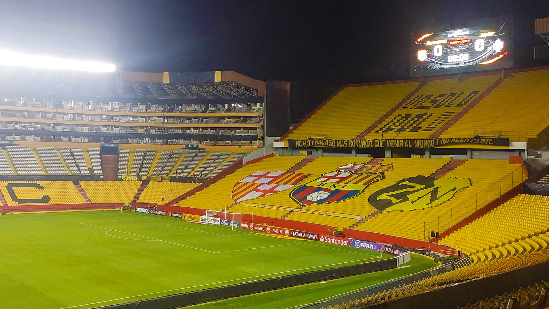 Barcelona de  Guayaquil adversário do Flamengo na semifinal da Libertadores estádio