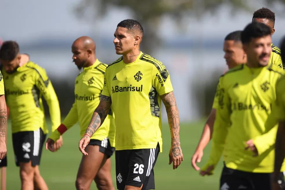 Guerrero durante treinamento no Beira-Rio