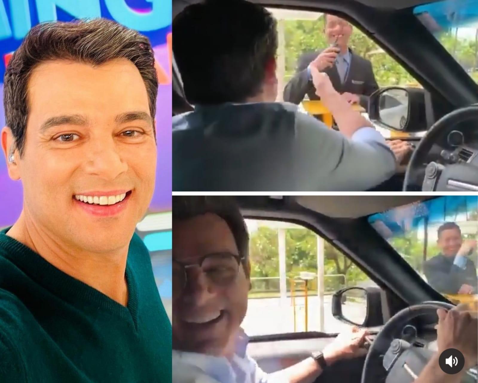 Celso Portiolli trola segurança da Globo