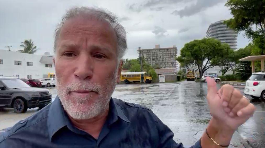 Correspondente Jaci Carvalho fala com exclusividade sobre desabamento de prédio em Miami (Divulgação)