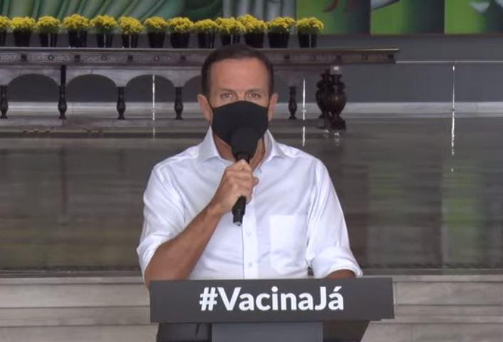 Governador de São Paulo João Doria durante anuncio do programa social Bolsa do Povo