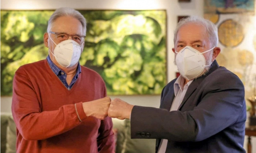Imagem do encontro entre FHC e Lula