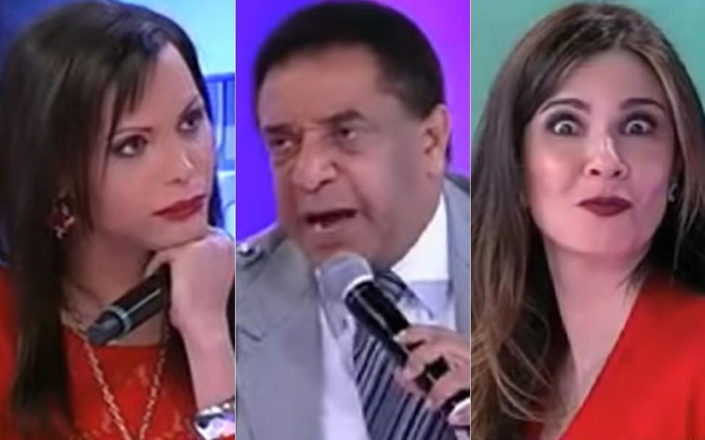 Luisa Marilac, Agnaldo Timóteo e Luciana Gimenez no Superpop de 19 de maio de 2011