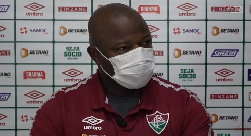 Marcão concede entrevista coletiva pelo Fluminense após vitória fora de casa sobre a Chapecoense, por 2 a 1