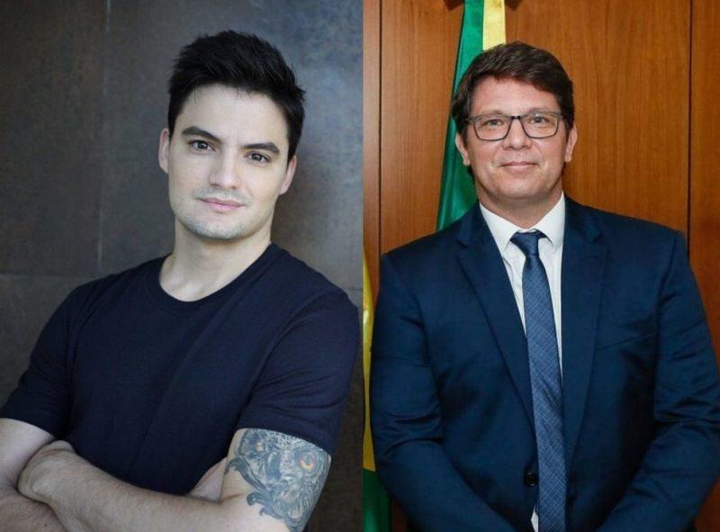 Felipe Neto e Mário Frias