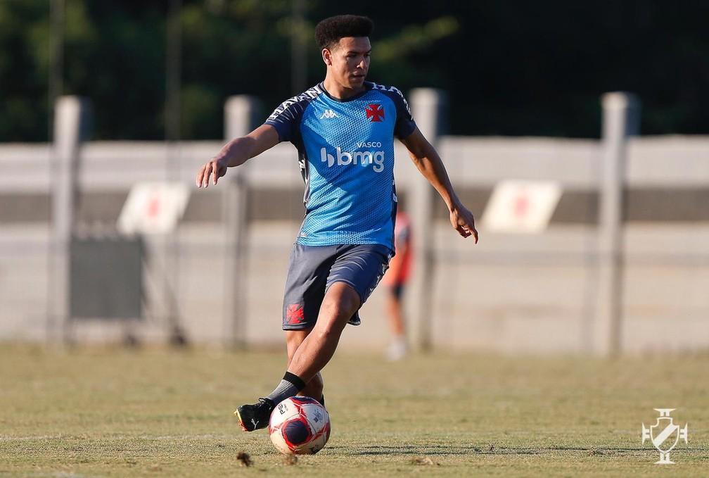 Marquinhos Gabriel durante treino pelo Vasco