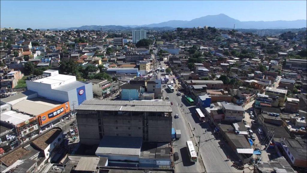 Foto aérea de Belford Roxo, cidade da Baixada Fluminense