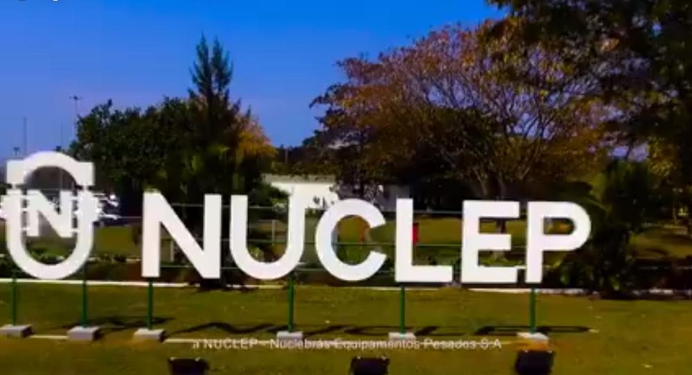 Imagem da entrada da NUCLEP em Itaguaí
