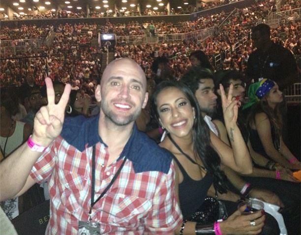 Paulo Gustavo e Samantha Schmutz em show de Beyoncé. Foto: Reprodução Redes Sociais