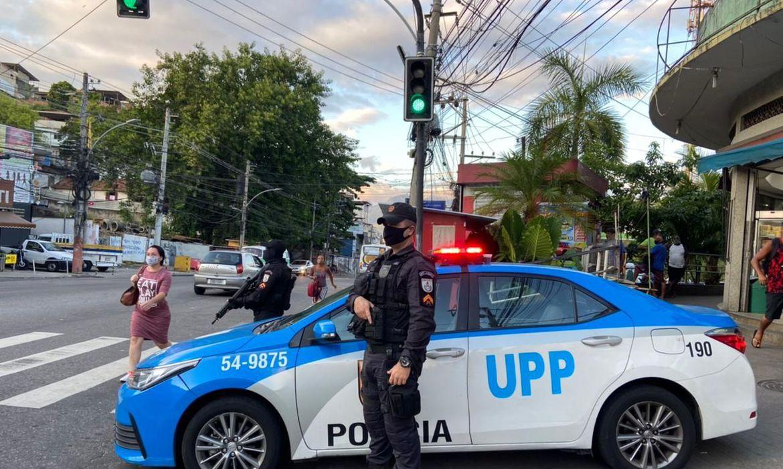 Na imagem, Policia Militar