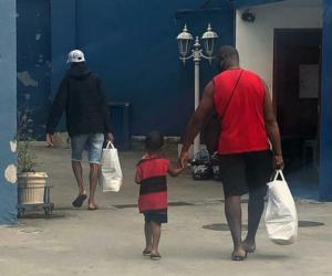 Distribuição de cestas na Portela. Foto: Reprodução Instagram