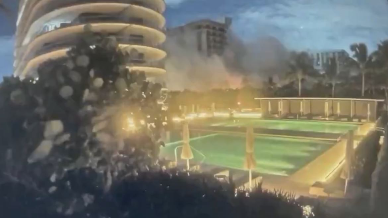Parte de prédio desmorona em Miami Beach, nos Estados Unidos