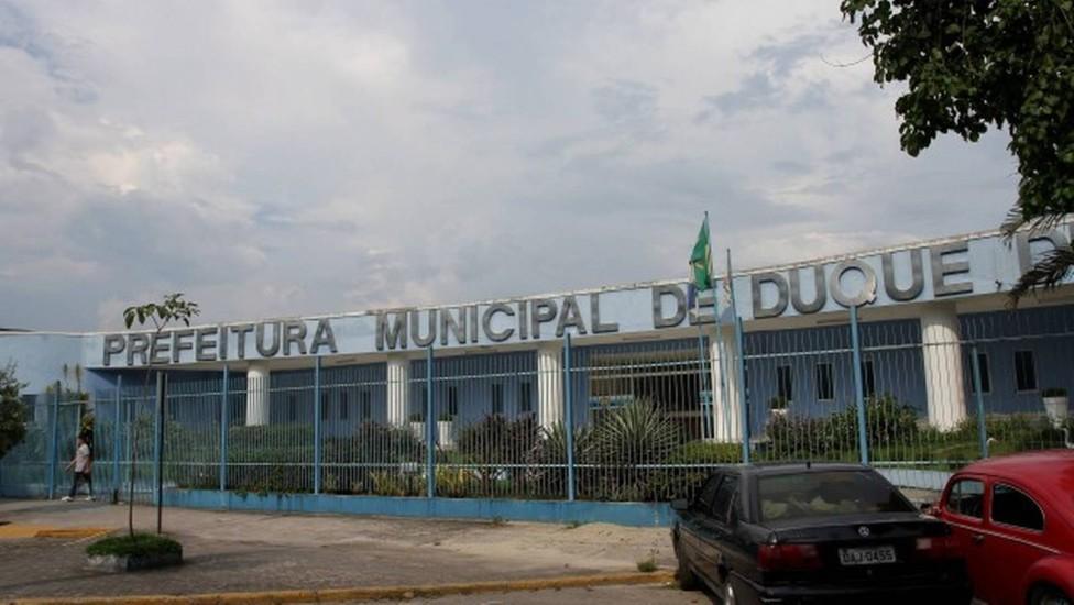 Fachada da Prefeitura de Duque de Caxias, em Jardim Primavera