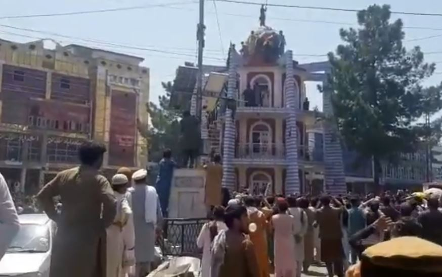 Protesto contra o grupo extremista Talibã