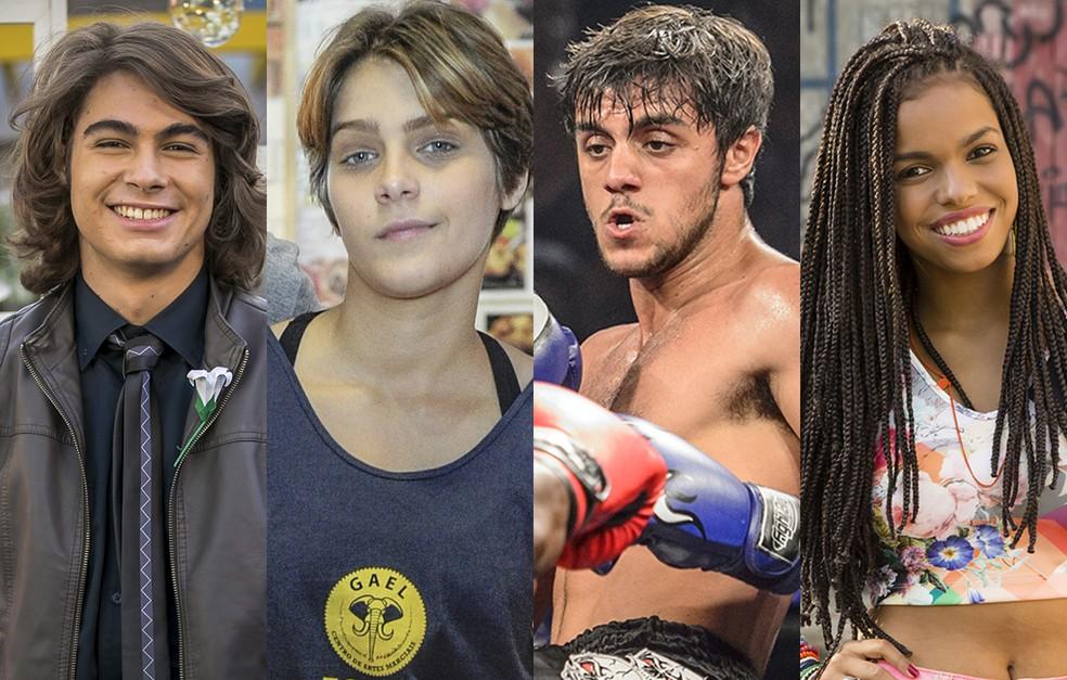Rafael Vitti, Isabella Santoni, Felipe Simas e Jeniffer Nascimento estão no elenco de 'Malhação Sonhos' atualmente no ar pela TV Globo