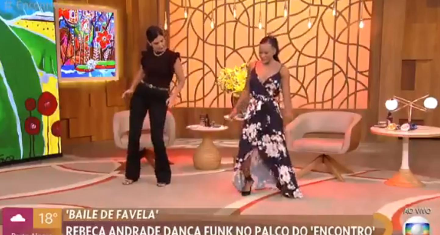 Rebeca Andrade ensina Fátima a dançar funk