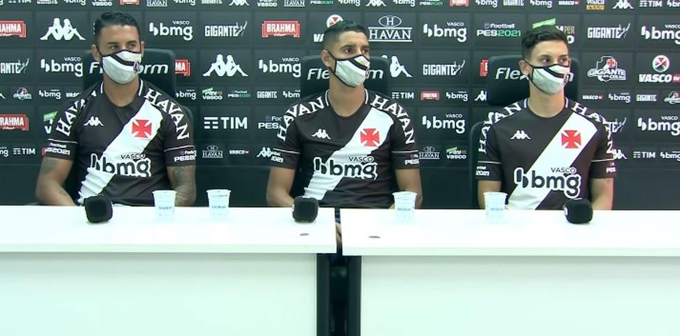 Vasco apresenta Michel, Daniel Amorim e Sarrafiore