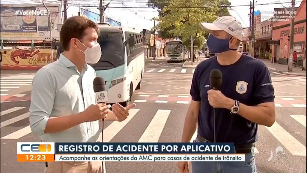 Repórter da TV Verdes Mares quase foi atropelado