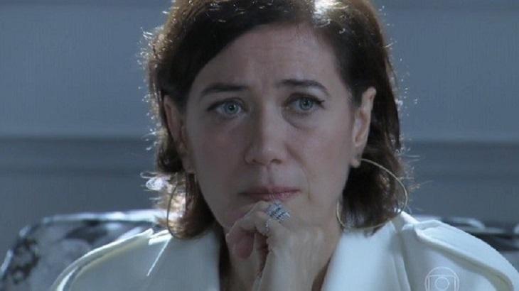Maria Marta se lembra de quando pediu para Silviano guardar o diamante rosa em sua casa (Divulgação: TV Globo)
