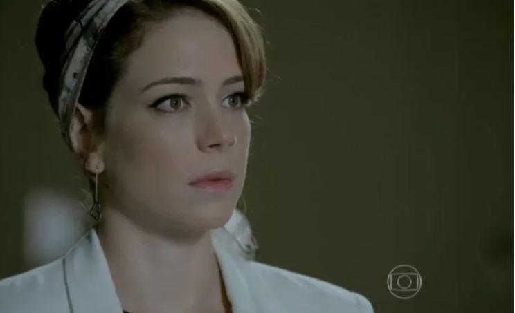 Na imagem, a personagem Cristina interpretada pela atriz Leandra Leal