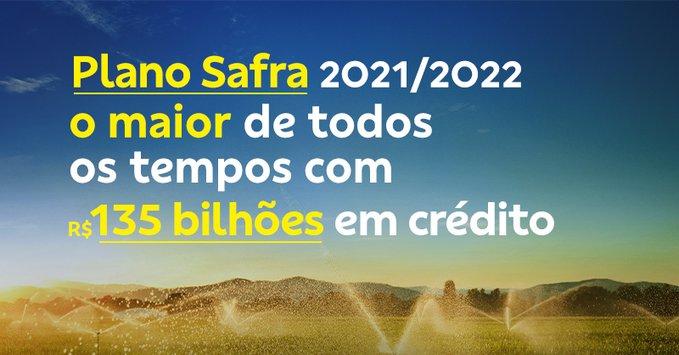 Banner do Plano Safra 2021/2022